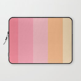 Paradise Pink Carnelian Peach Coral Raspberry Gold Stripe Beautiful Multi-Colour Laptop Sleeve