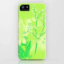 Illustration of the plant Meadowsweet (Filipendula ulmaria) iPhone Case