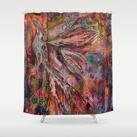 phoenix Shower Curtains featuring Phoenix by Karen Mosbacher