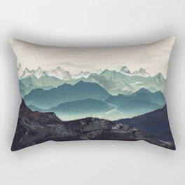 Shades of Mountain Rectangular Pillow