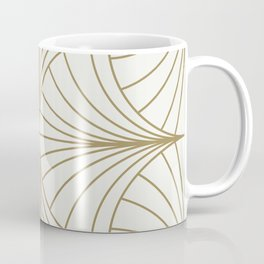 Diamond Series Inter Wave Gold on White Coffee Mug