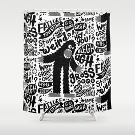 internal monologue Shower Curtain