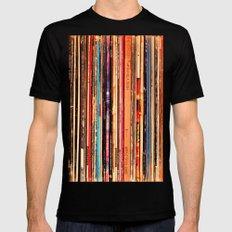 Vinyl Mens Fitted Tee MEDIUM Black