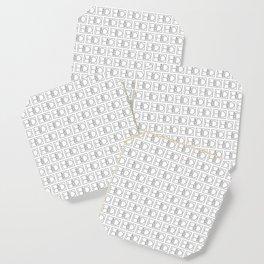 HD Soap Black Tiled on White Coaster