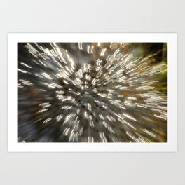 Sunlight on Frog Spawn, Abstract Bokeh ICM Art Print