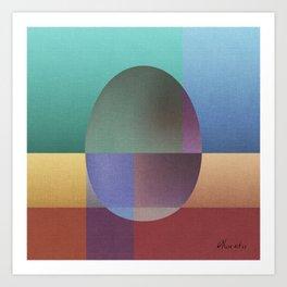 NO WAY OUT abstract art Art Print