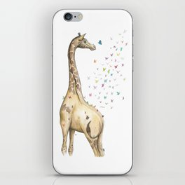 Young Giraffe with Butterflies iPhone Skin