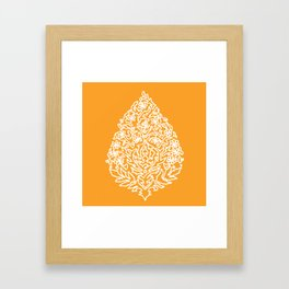 Moroccan Paisley in Autumn Orange Framed Art Print