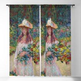 """Claude Monet """"Jeune fille dans le jardin de Giverny"""" Blackout Curtain"""