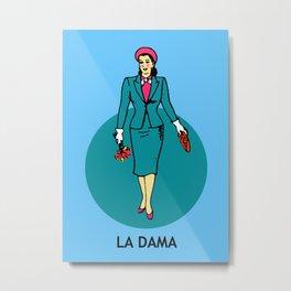 La Dama Mexican Loteria Metal Print