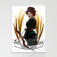 monster hunter Stationery Cards featuring Steampunk Occupation Series: Monster Hunter by kortothecore