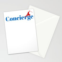Concierge Ninja in Action Stationery Cards