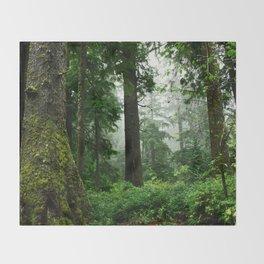Light Fog in the Dense Forest Throw Blanket