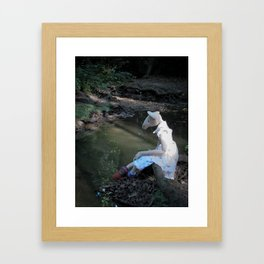 Miss Mouse by the Stream Framed Art Print