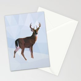 Reindeer in a winterwonderland Stationery Cards