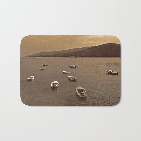 Small Boats Bath Mat
