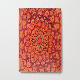 Mandala on copper plate 2 Metal Print