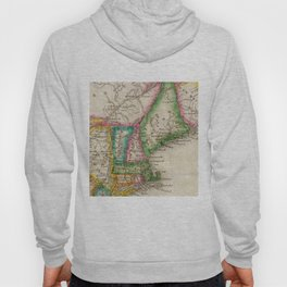 Vintage Map of New England (1822) Hoody