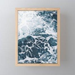 Marble ocean Framed Mini Art Print