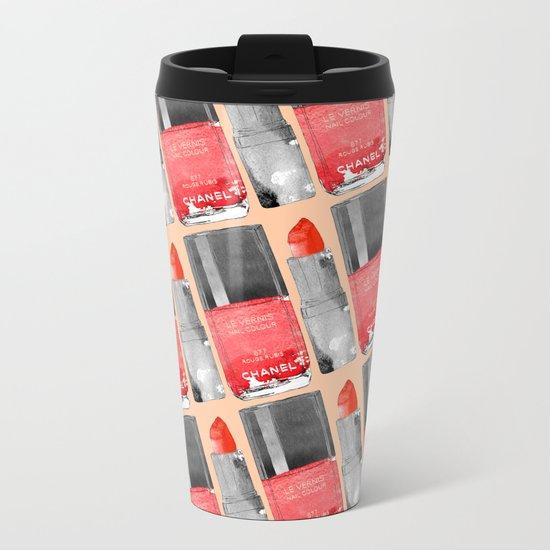 Red Love Metal Travel Mug