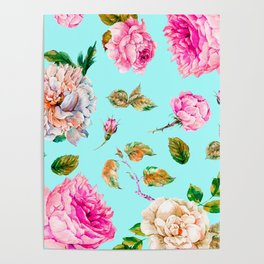 Wild Flowered blooms I Poster