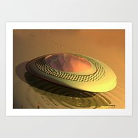 Futurist vehicle 1 Art Print