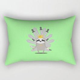Medieval Sloth King with swords T-Shirt Rectangular Pillow
