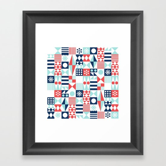 Tradewinds navy Framed Art Print