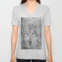 Wolf camouflaged with the forest Unisex V-Neck