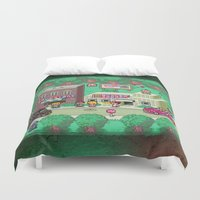 earthbound Duvet Covers featuring Earthbound town by likelikes