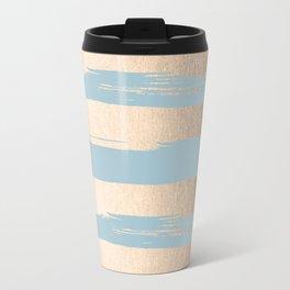 Painted Stripes Gold Tropical Ocean Sea Blue Travel Mug