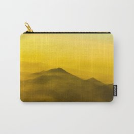 Colorful mountains in clouds - like painting, defocused, abstract yellow sunset illustration Carry-All Pouch