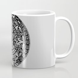Mayan Calendar // Light Grey Coffee Mug