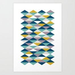 Geometric Pattern | Triangles Art Print