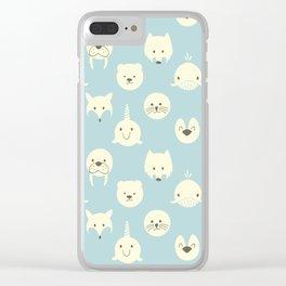 Arctic animals Clear iPhone Case