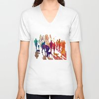 best friends V-neck T-shirts featuring Best friends by takmaj