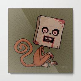Psycho Sack Monkey Metal Print