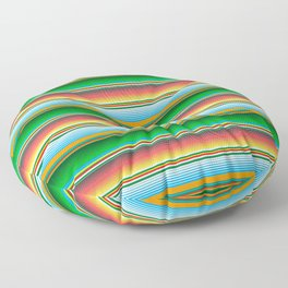 Mexican Serape Horizontal Lines Colorful Pattern  Floor Pillow