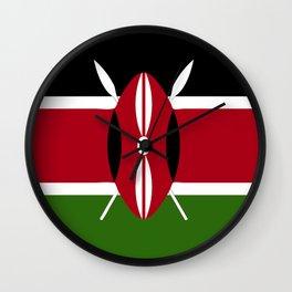 Kenya flag emblem Wall Clock