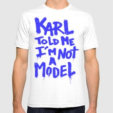 Karl told me // Summer 2014 edition // MEDIUM White Mens Fitted Tee