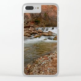 Virgin_River Falls 0898 - Zion Court Clear iPhone Case
