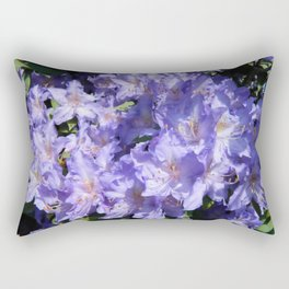 Indigo Azaleas Rectangular Pillow