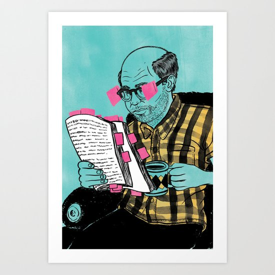 Post it notes Art Print