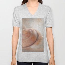 Snail shell, brown emotion Unisex V-Neck