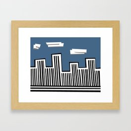 Untitled Minimalist Cityscape One Framed Art Print