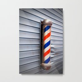 Vintage Barber Pole Metal Print