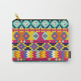 Seamless colorful aztec pattern with birds Carry-All Pouch