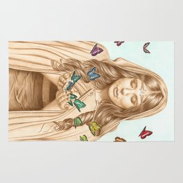 The Butterfly Girl Rug