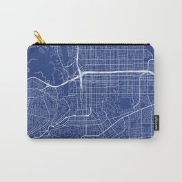 Pasadena Map, USA - Blue Carry-All Pouch