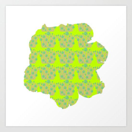 pattern with flower Art Print